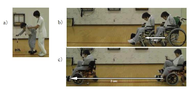 脳梗塞左片麻痺者への足こぎ車いすの適用